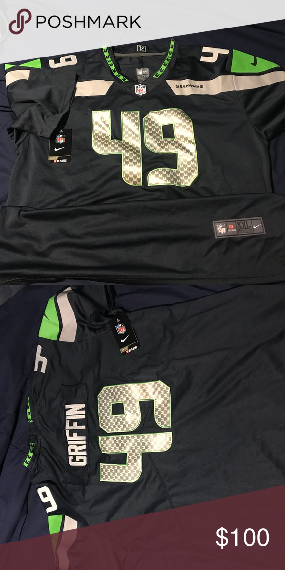 hot sale online 58f4d e9695 Shaquem Griffin Seahawks Jersey The jersey is a 2XL. Never ...