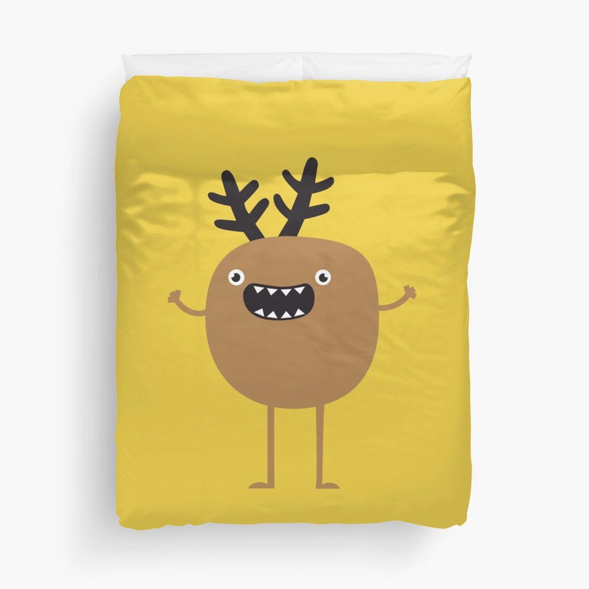 d7699590d Funny Christmas Reindeer | Duvet Cover | Br. {MonsTer chic ...