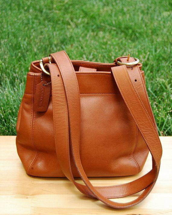 0862e7da60 Vtg. COACH British Tan Leather Shoulder Bag    Coach Classic Leather Purse  with Dual Buckle Adjustable Straps    Excellent Vintage Condition.