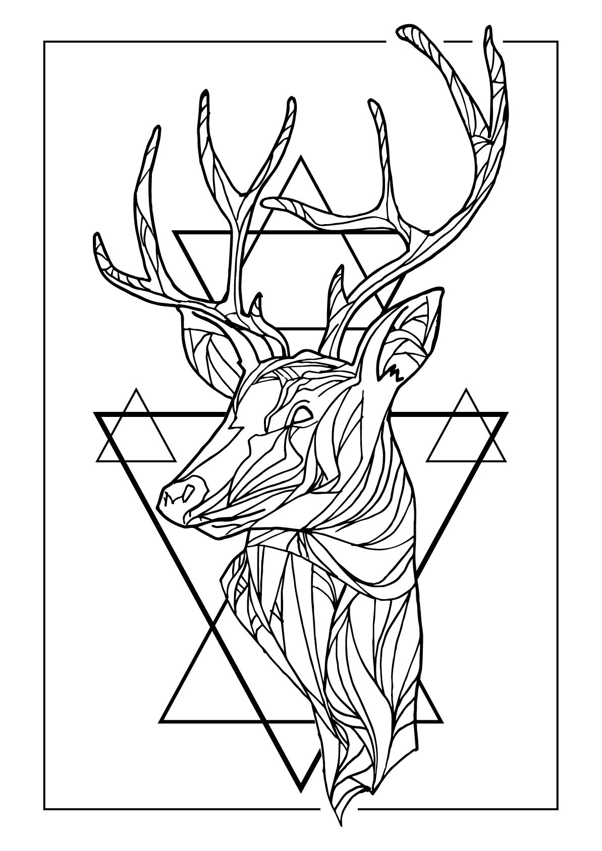 Wild Deer poster by Agapê #deer #triangles #poster #agape