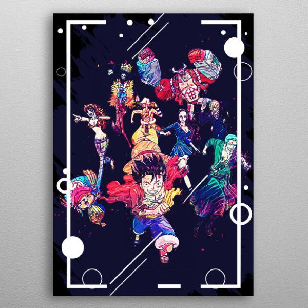 naruto abstract by fujiwara | metal posters - Displate | Displate thumbnail