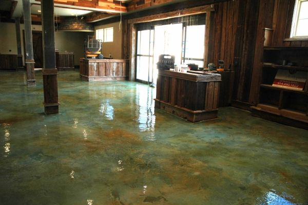 Acid etching concrete stain stained concrete floors for How to clean acid stain floors