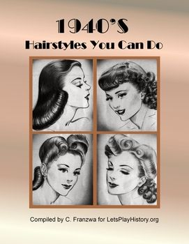1940 Hairstyles Simple 1940S Hairstyles Tutorials  Primary Source Document  Source