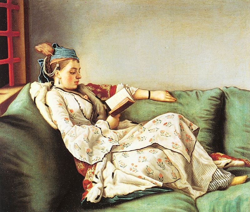 Jean Etienne Lìotard, Portrait of Maria Adelaide of France in Turkish-style  clothes | Royal academy of arts, Woman reading, Uffizi gallery