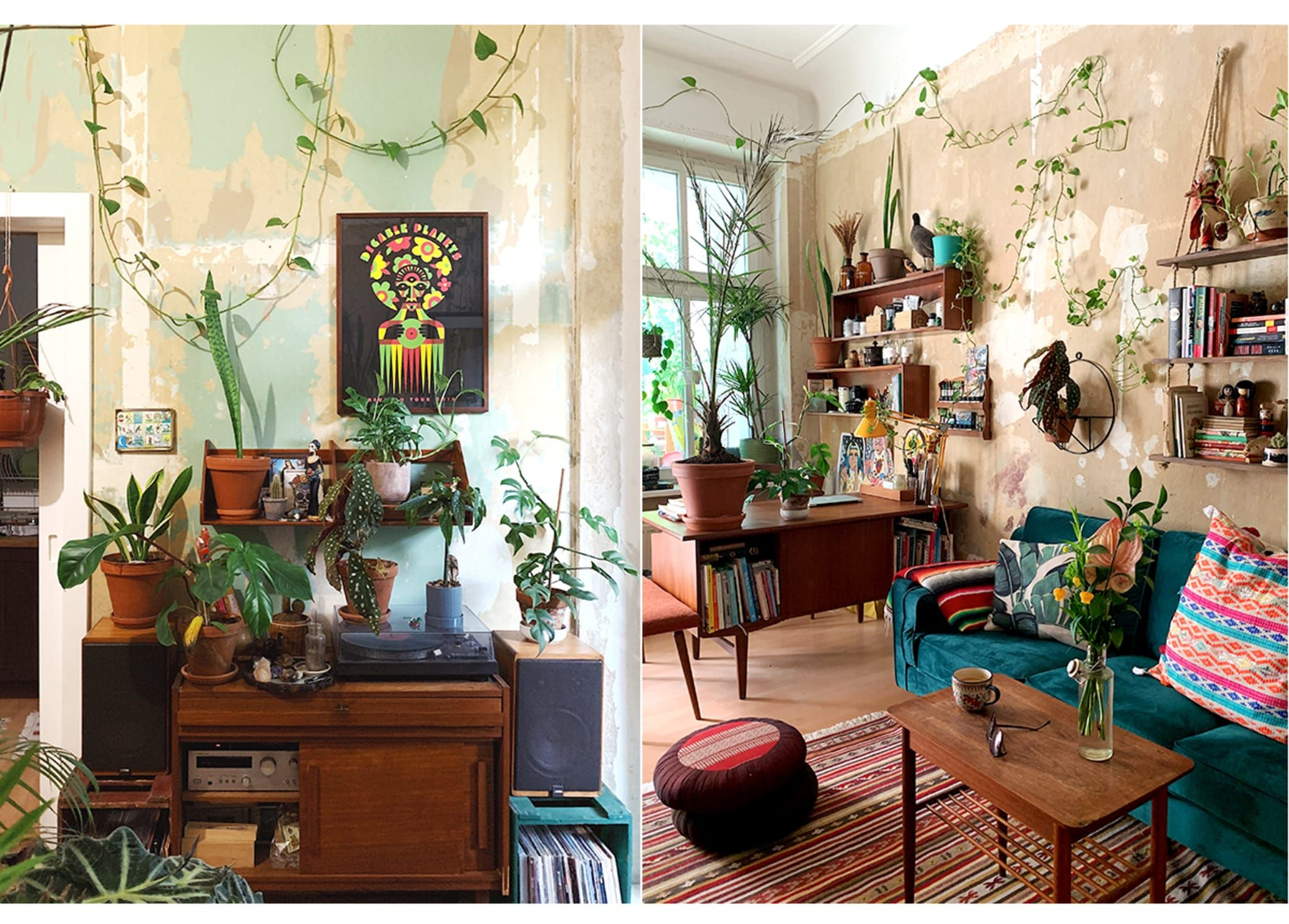 Interior Design Berlin This High-vibe Home In Berlin Has Plants That Reach The Ceiling | Home, House Styles, Interior Design