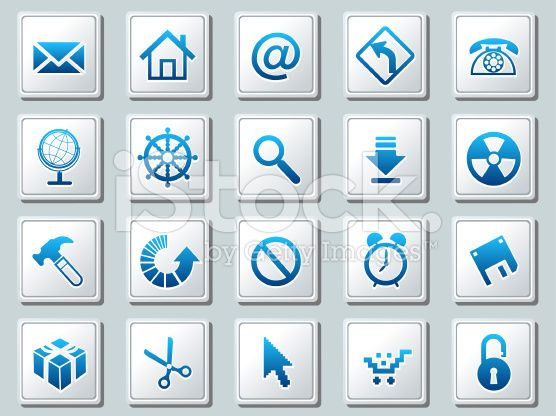 Vector Square Icon Sets Which Includes Popular Useful Signs Icon Set Free Vector Art Icon