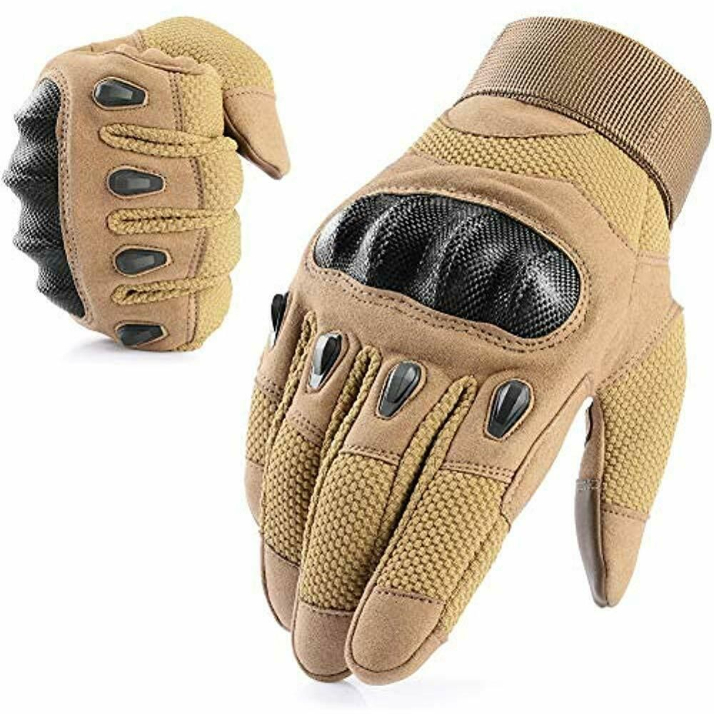 Men/'s Tactical Hard Knuckle Gloves Army Military Combat Air-soft Security Patrol