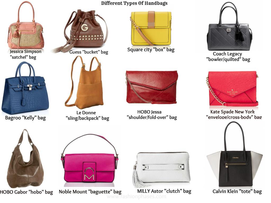 Vocabulary Diffe Types Of Handbags