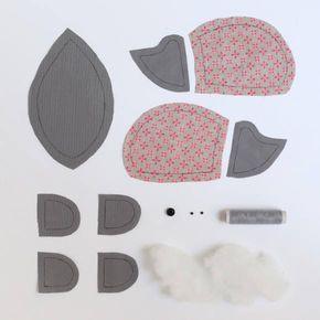 Je fabrique un hérisson en tissu #animauxentissu