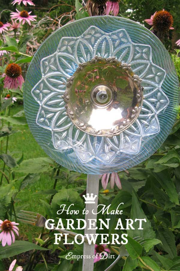 How To Make Garden Art Dish Flowers Using Both Drill And No Methods