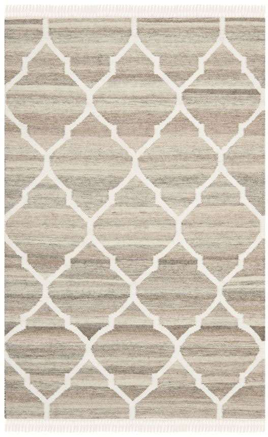 A stylized compilation of ages-old nomadic tribal motifs, the Natural Kilim collection by Safavieh is hand-woven by artisans in India of natural hand-carded wool for rich, lustrous texture. Rustic and casual, these textural rugs are the perfect foundation for traditional, transitional and contemporary settings.