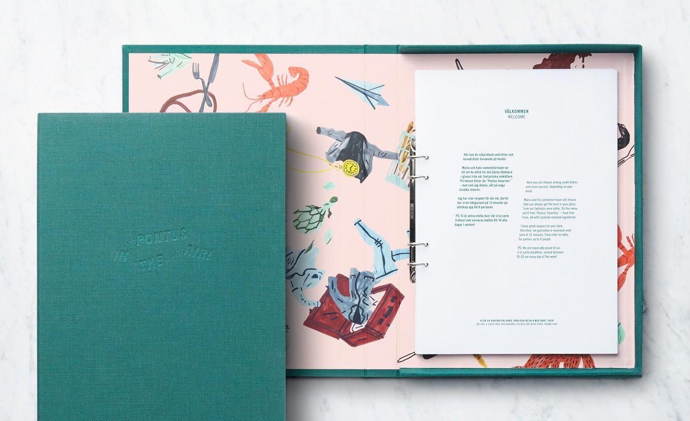 New Branding For Pontus In The Air By Bold Bp O Menu Design Inspiration Menu Design Restaurant Menu Design