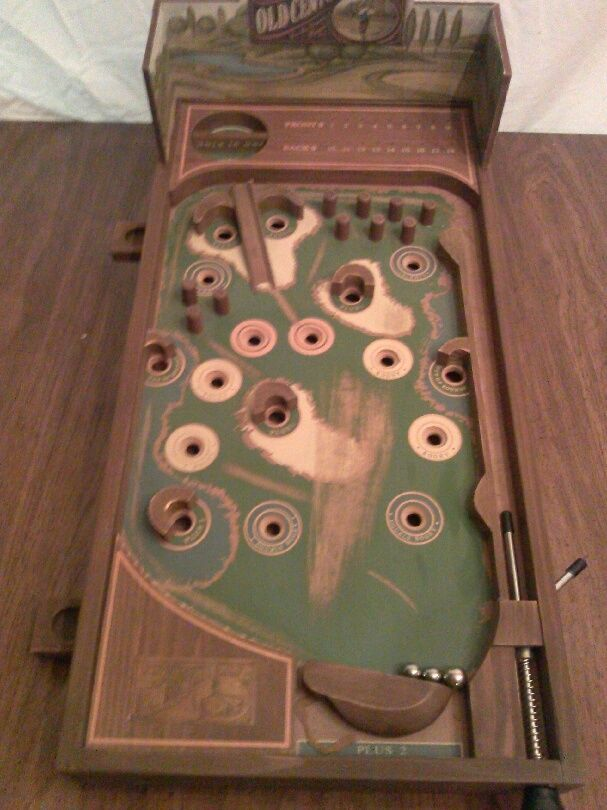 Old Century Golf Wooden Tabletop Pinball Machine Ebay