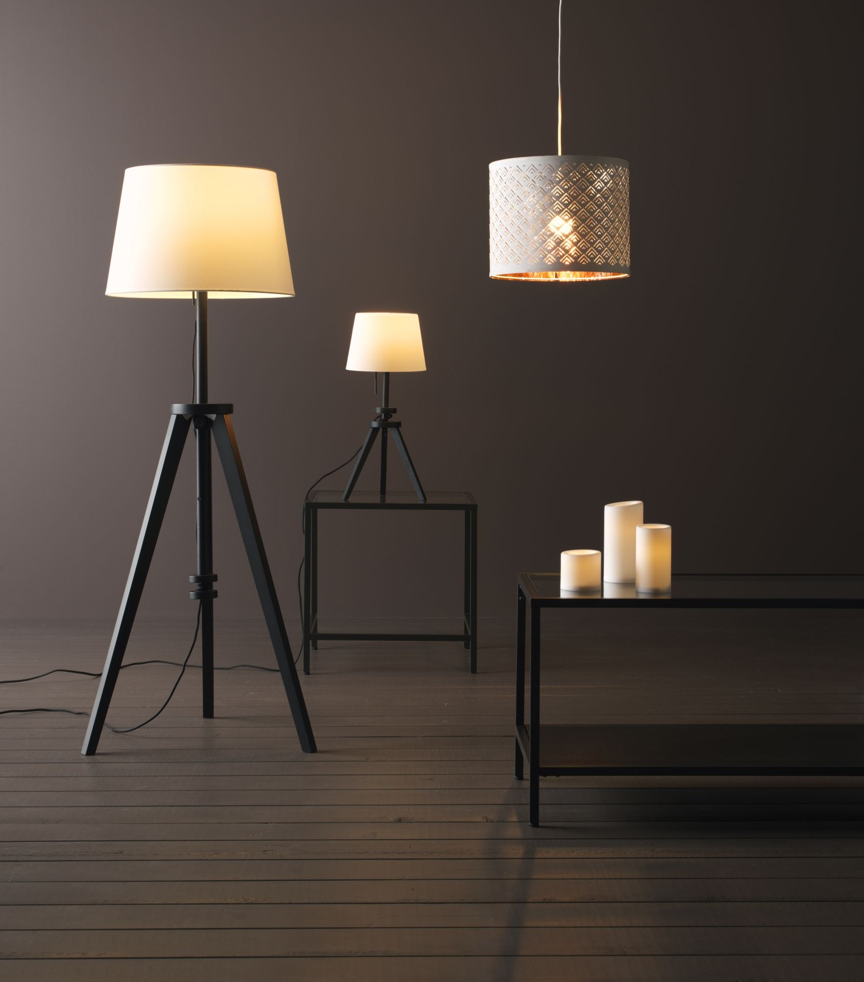 LAUTERS Tafellampvoet bruin  Bohemian  Ikea floor lamp