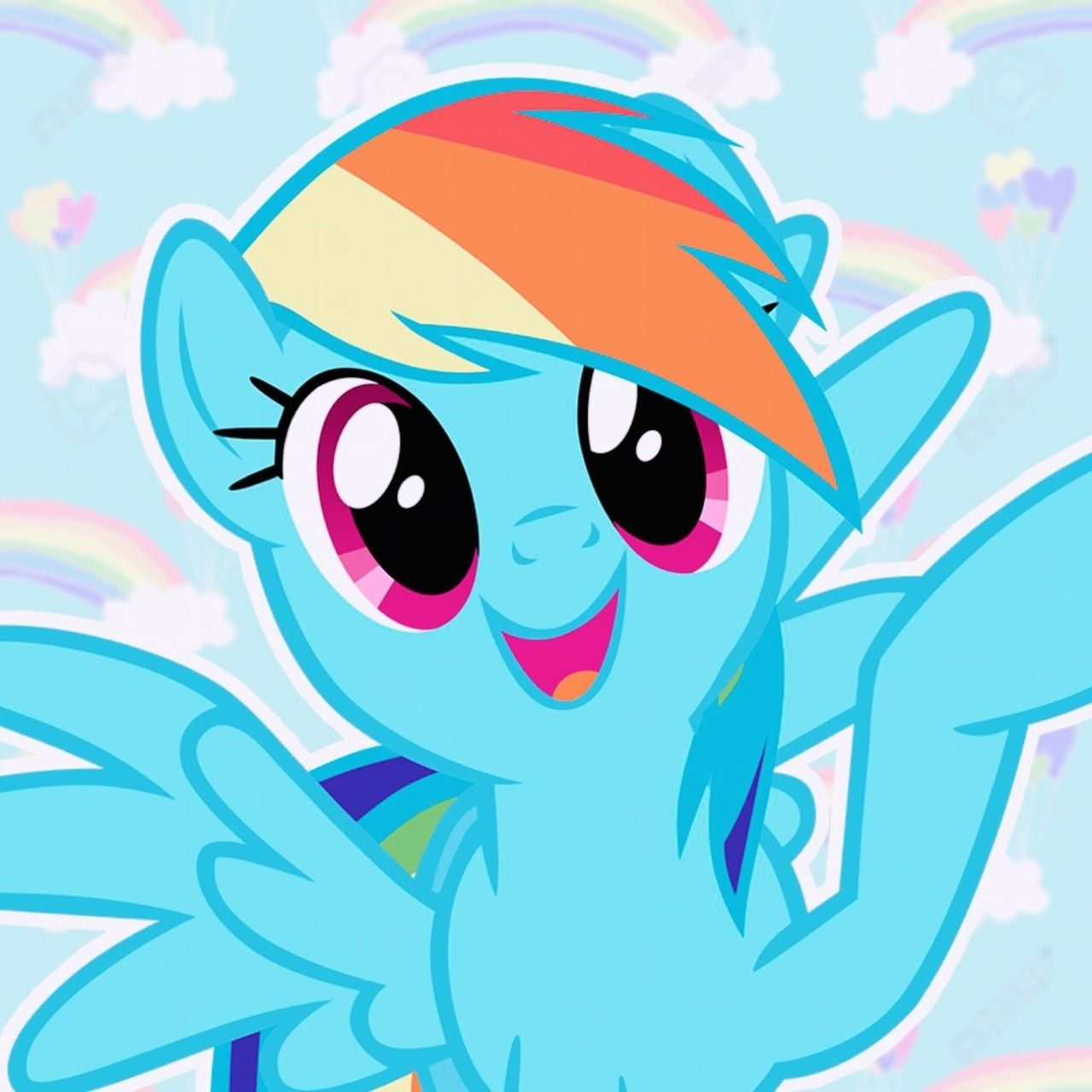 Rainbow Dash Icons For Anon With Images Rainbow Dash Mlp