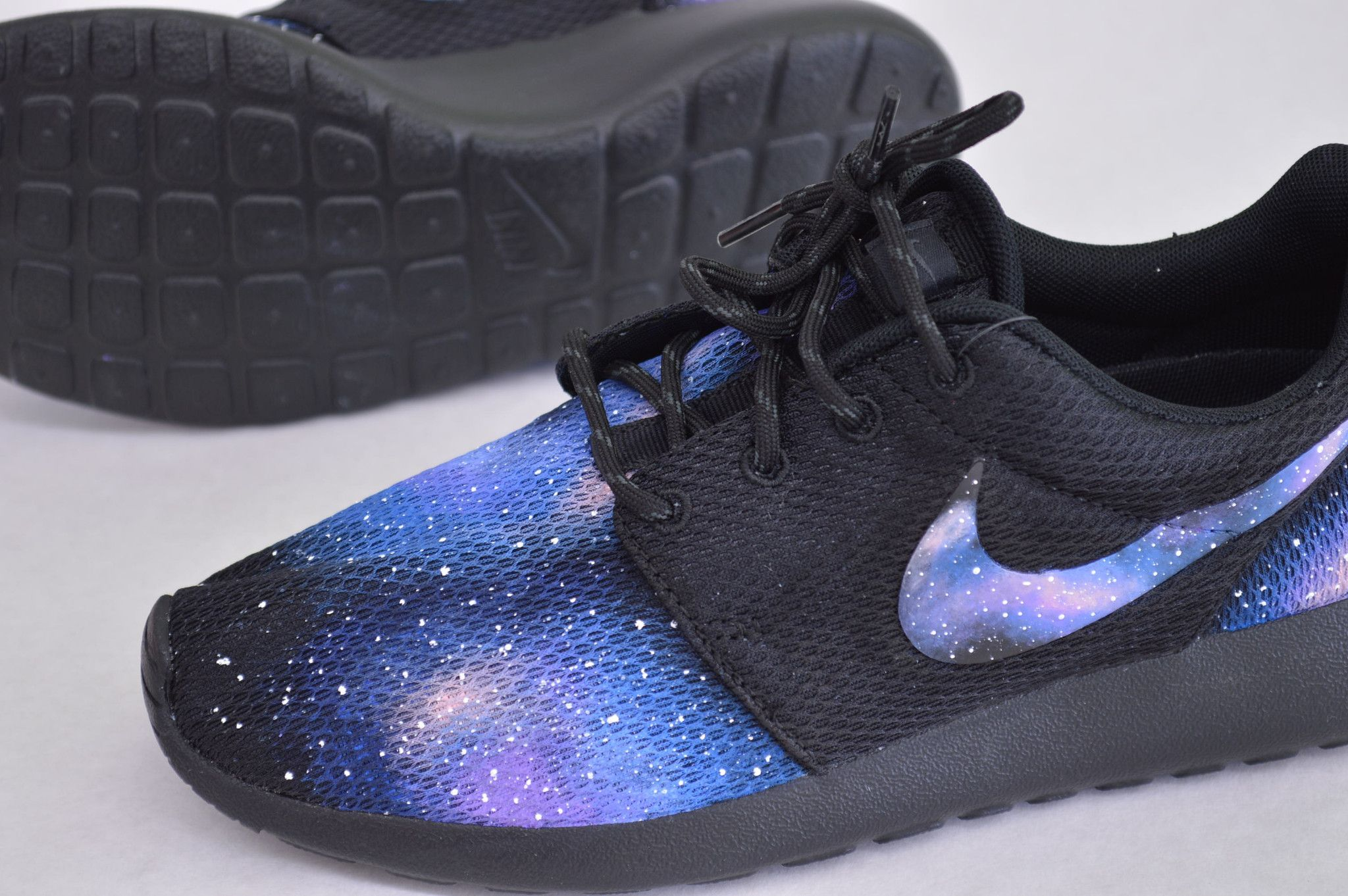 Galaxy Roshe One Custom Sneakers All Nike Shoes Nike Free Shoes Nike Shoes Women
