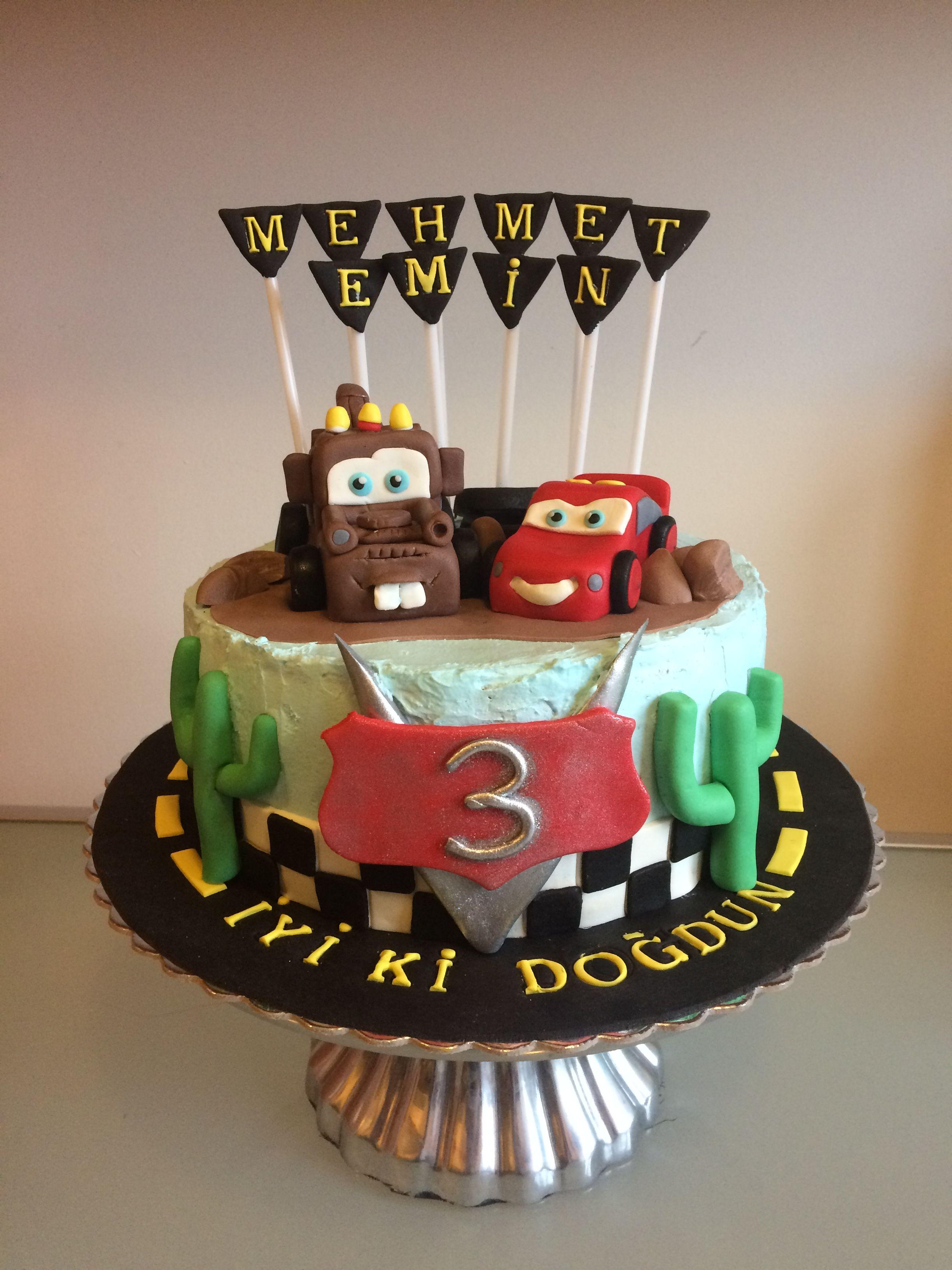 Cars birthday cake mcqueen simsekmcquenn mater