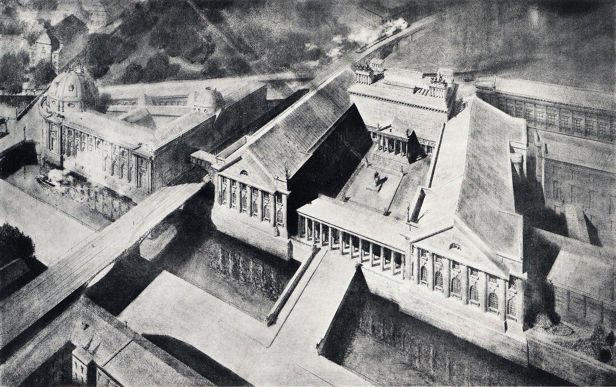 1912 Berlin Pergamonmuseum Ursprunglicher Plan Von Alfred Messel Mit Viertem Flugel Am Neuen Museum Nicht Aus Historische Fotos Neues Museum Leben In Berlin