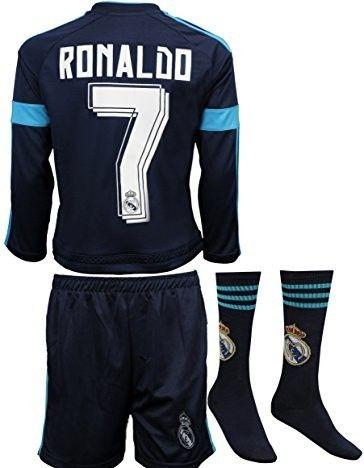 wholesale dealer 12cd6 3bb99 2015/2016 Real Madrid #7 Ronaldo Kids Alternative Blue Long ...