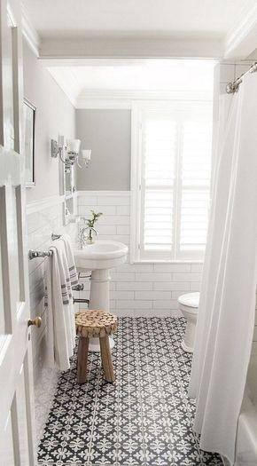 The 15 Best Tiled Bathrooms On Pinterest  White Mosaic Tiles Brilliant Black And White Mosaic Tile Bathroom Design Inspiration