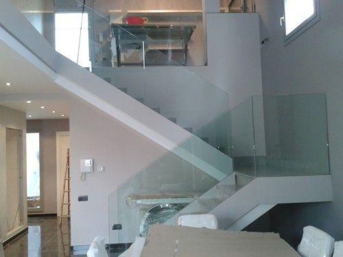 Barandillas escalera cristal buscar con google les - Barandilla cristal escalera ...