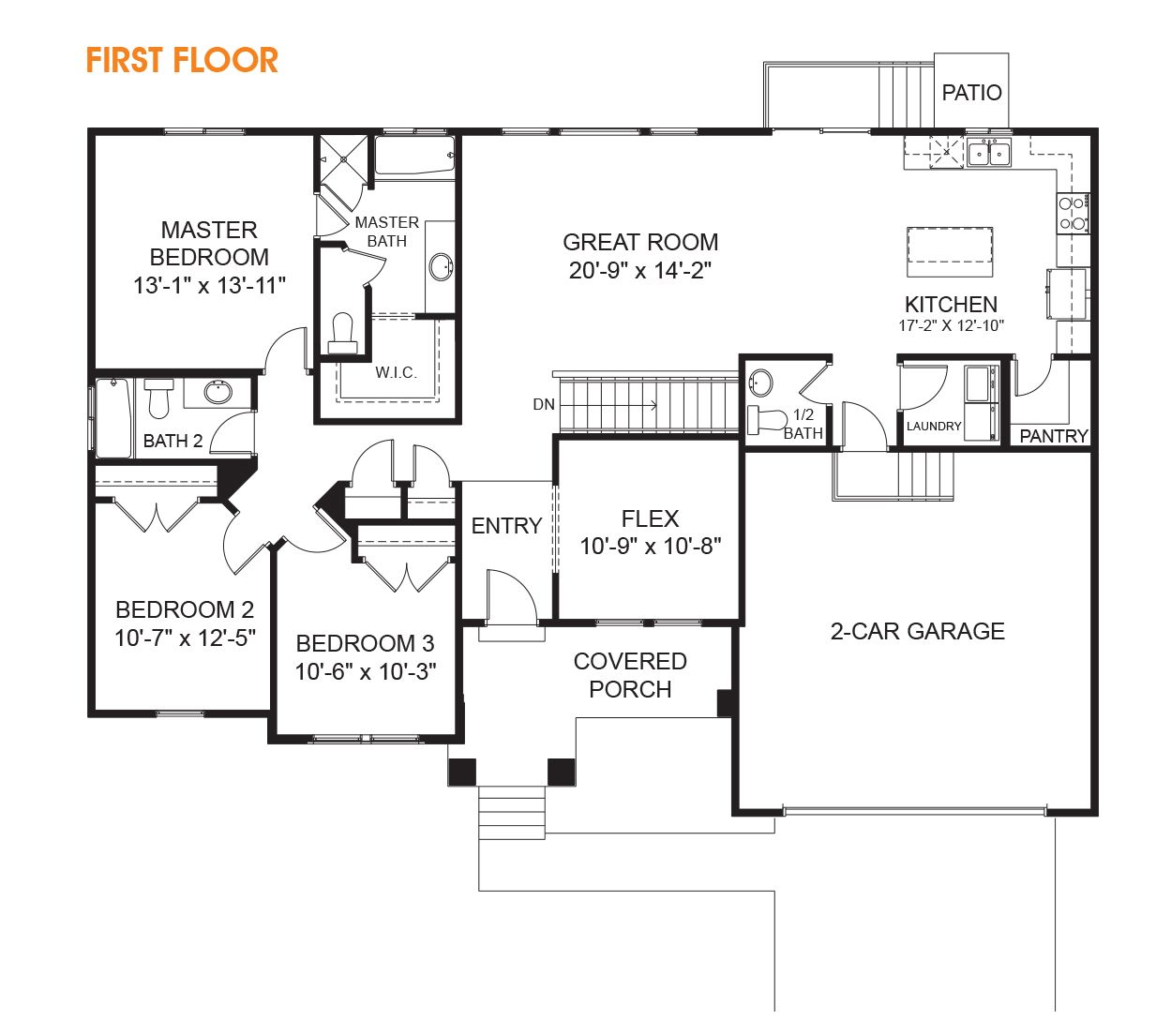 3 Bedroom Rambler Floor Plan For Your New Utah Home The Hailey Is Just What You Are Looking For In A Ramble Basement House Plans Floor Plans Floor Plans Ranch