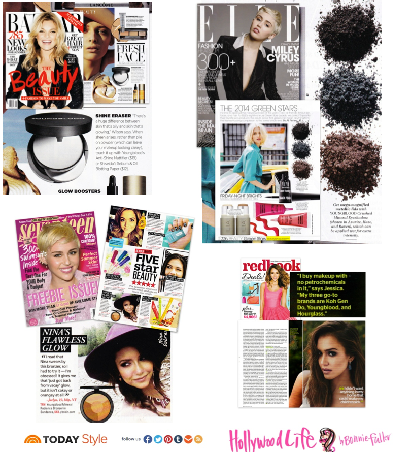 Youngblood Mineral Cosmetics in the news Harper's Bazaar