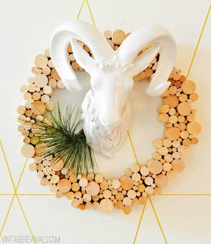 Wooden Dowel Wreath Wreaths