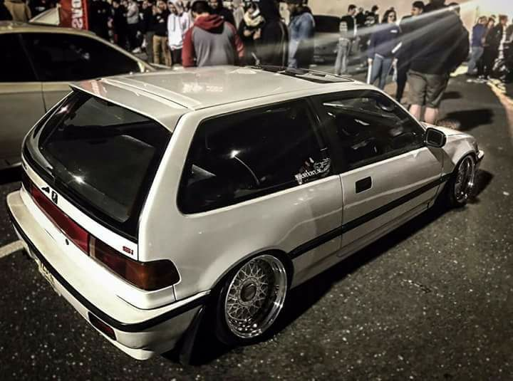 Honda Civicef Slammed Stance Modified Nouva Pinterest