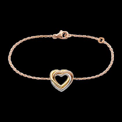 Trinity Heart bracelet - 3-gold - Fine Bracelets for women - Cartier