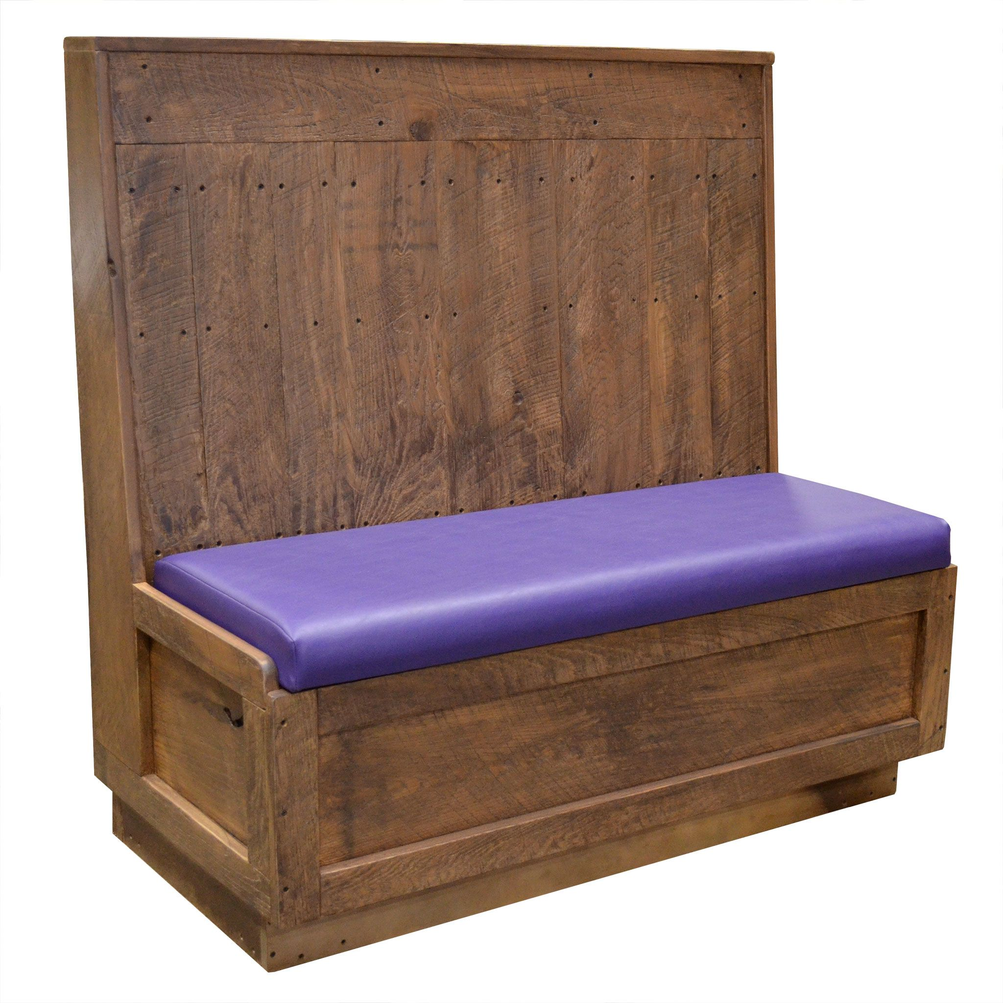 East Coast Chair And Barstool Inc Rent A Tent Tables Chairs Reclaimed Wood Purple Vinyl Restaurant Booth