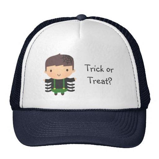 Cute Spider Boy Costume Halloween Trucker Hats