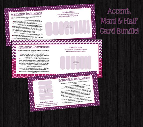 Check out this item in my etsy shop httpsetsylisting items similar to mani accent half wrap bundle card for nail wrap direct sales consultants on etsy jamberry displayjamberry businessbusiness reheart Choice Image