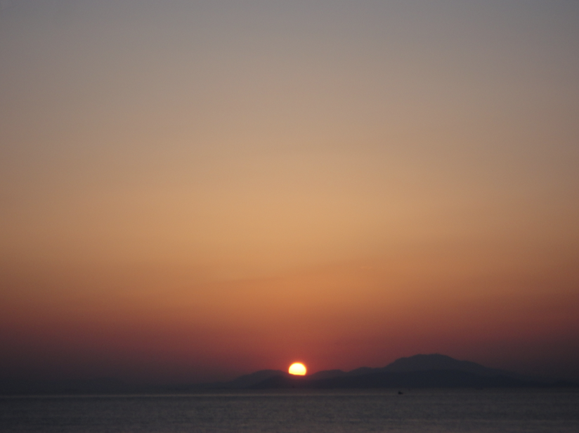 South of Athens sunset over water, Greece