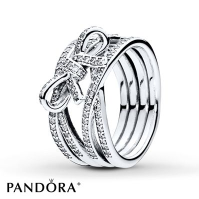 Jared PANDORA Ring Delicate Sentiment Sterling Silver Jewelry