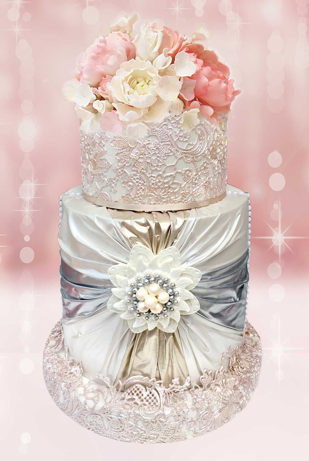 Edible Fabric for besutiful Cake decor by Crystal Candy