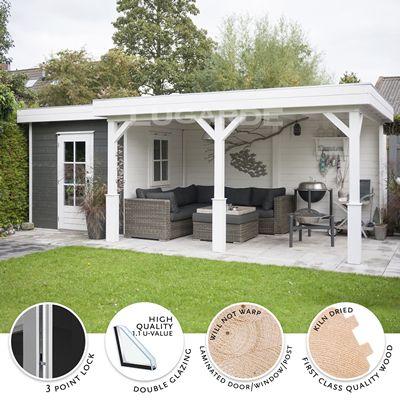 Gamme cabane cabanon pavillon jardin chalet bungalow cabanes plans et architecture en 2019 - Plan cabanon de jardin ...