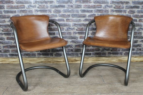Magnificent Industrial Style Chair This Superb Quality Tan Buffalo Machost Co Dining Chair Design Ideas Machostcouk
