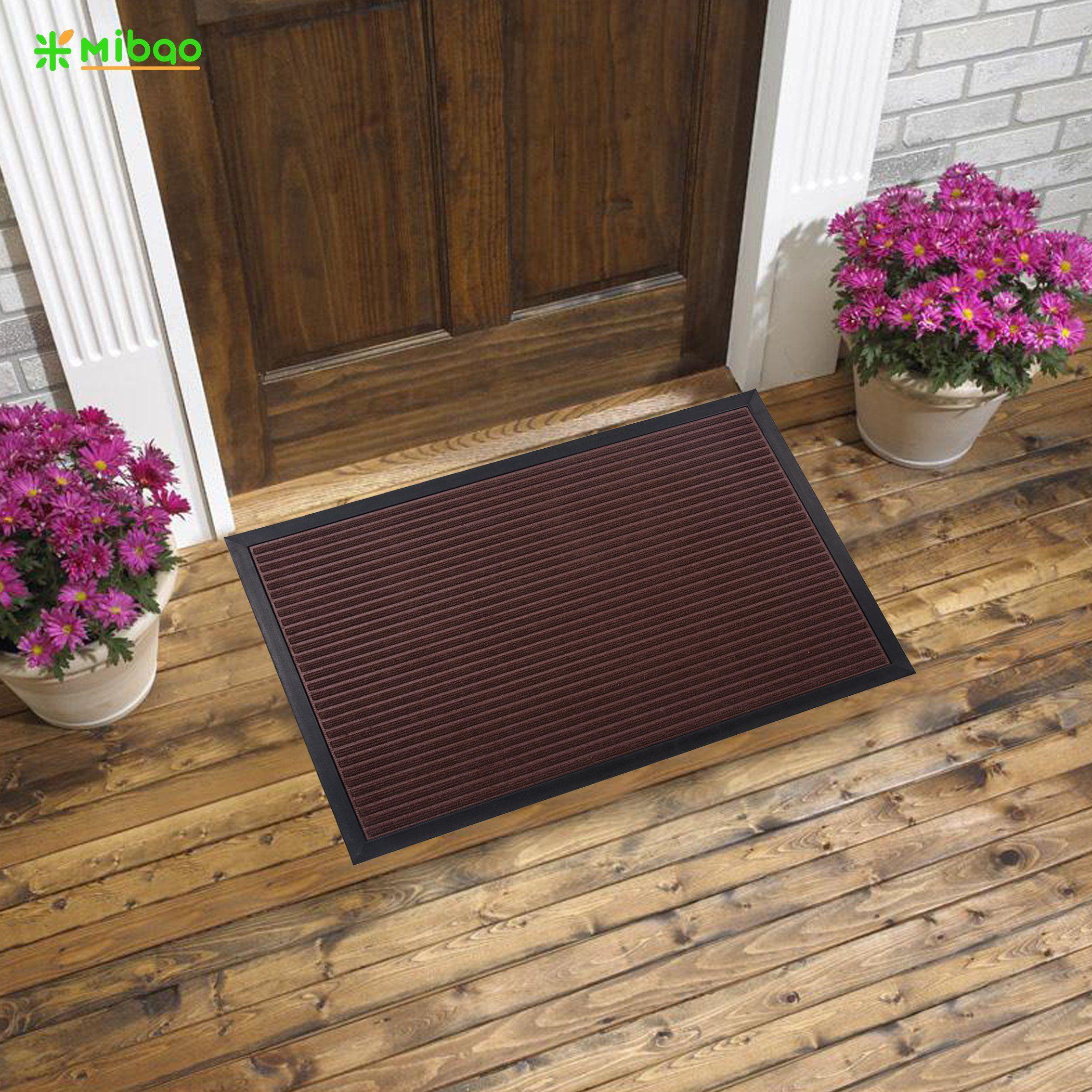 Mibao Low Profile Shoe Ser Doormat Indoor Outdoor Floor Mat Entrance Rug For Front Door 18 X 30 Coffee More Information Visit Image Link