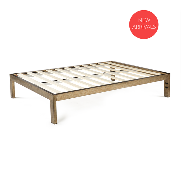 The Frame Gold Brushed Steel Bed Frame Twin 39 Steel Bed