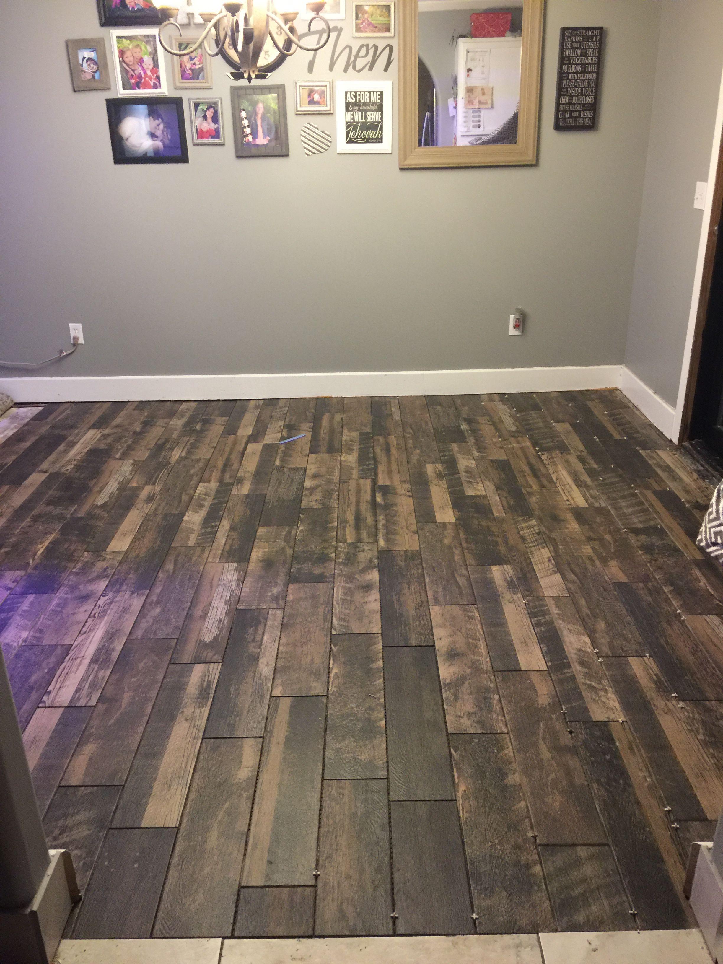 Weathered Brown Wood Look Tile