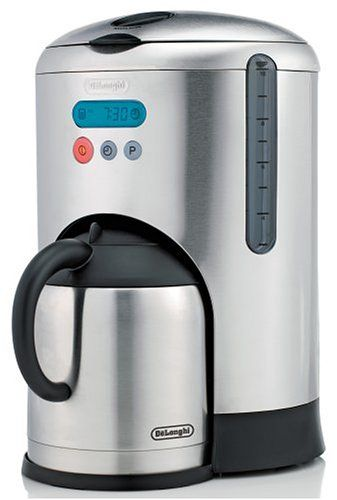Delonghi Dcm485 10 Cup Thermal Carafe And Coffeemaker Brushed Stainless Steel Thermal Coffee Maker Coffee Maker With Grinder Coffee Maker Coffee maker with stainless steel carafe