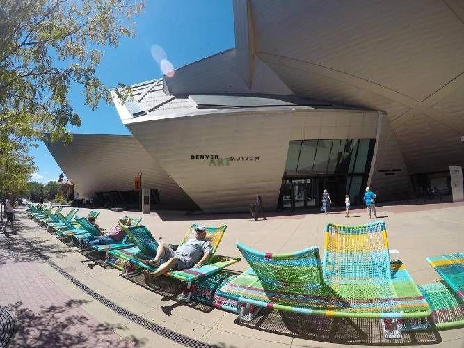 Sunny day in Denver ☀️ #denverartmuseum #relax #chilling # ...