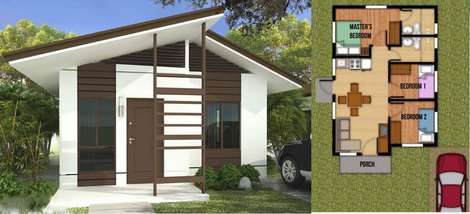 100 Small Beautiful House Design Photos That You Can Get Ideas From Simple House And Bungalow Ty Beautiful Small Homes Small House Architecture Small Bungalow