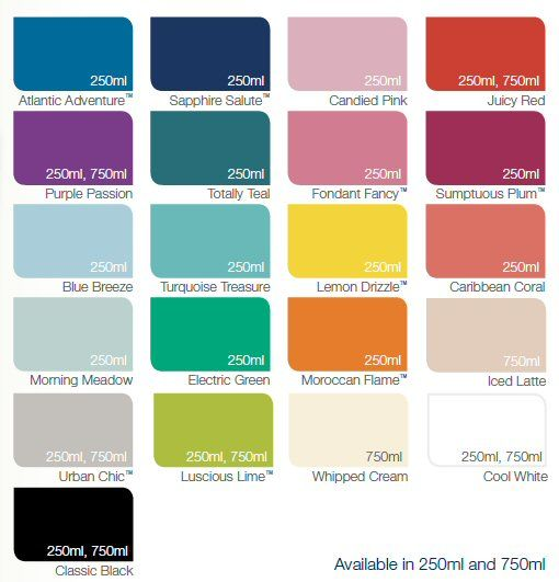 Dulux Made By Me Colour Chart Gloss
