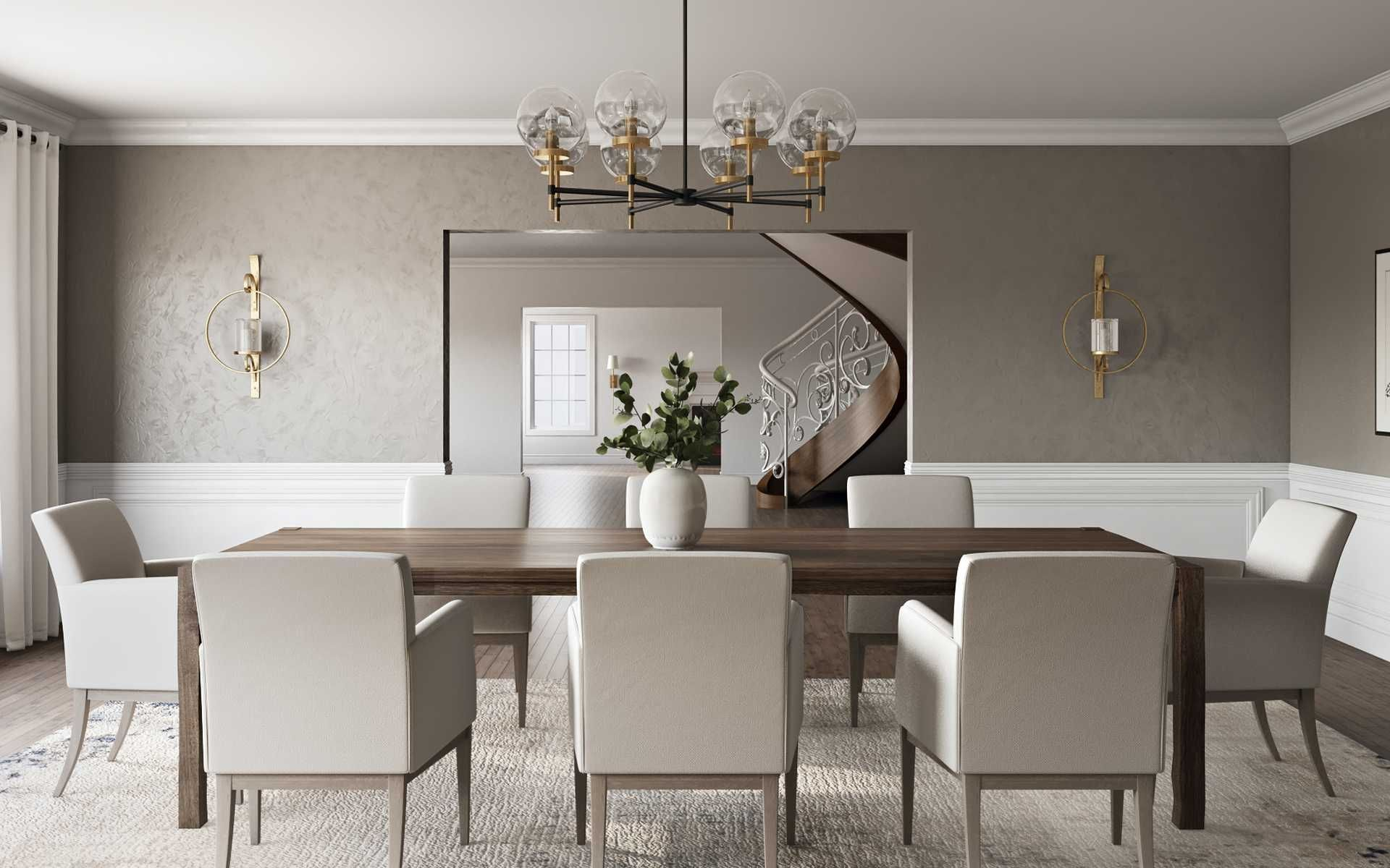 Contemporary Modern Classic Transitional Dining Room Design By Havenly Interior De Classic Dining Room Interior Design Dining Room Dining Room Design Modern