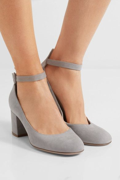 60 Suede Pumps - Light gray Gianvito Rossi pwZxVsK