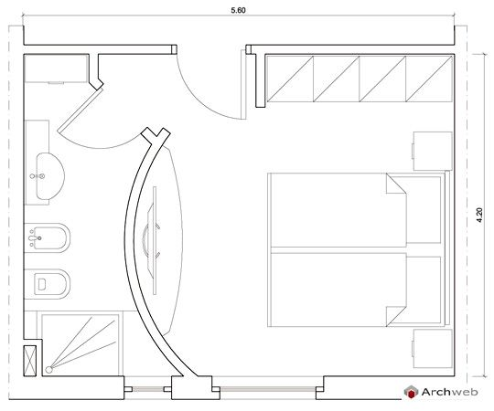 Master bedroom - Bedroom Autocad drawings | chambre | Pinterest ...