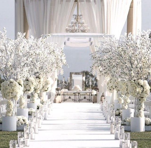 Wedding Ceremony Winter White Ceremony Aisle Pelican