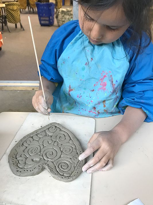 Adding detail to Clay Coil Heart